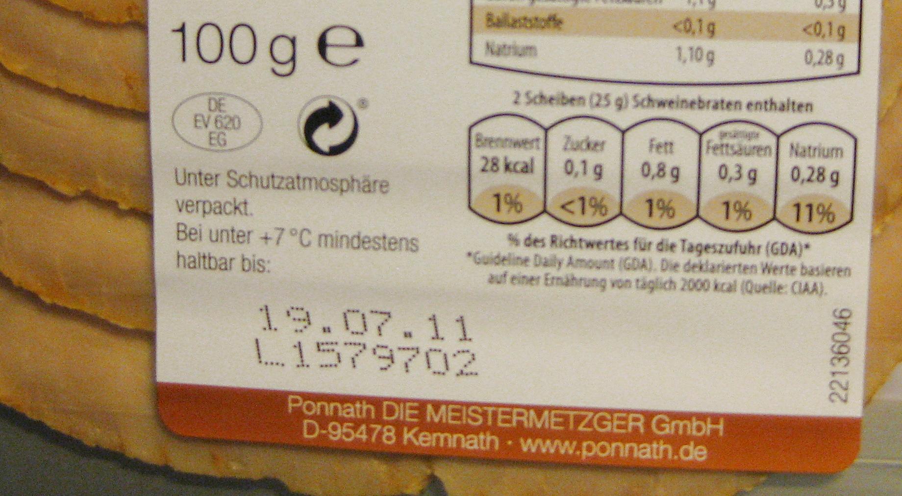 La vida útil de los productos alimenticios: Las fechas en los envases